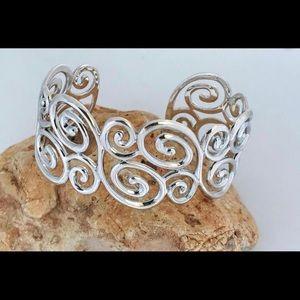 Ross Simons Sterling silver swirl cuff bracelet
